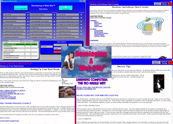 Developing A Website Screen shot