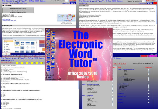 CoronelDP's Word 2007/2010 Tutor Screen shot
